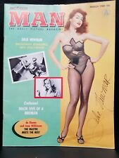 Julie Newmar signed Man Magazine JSA COA