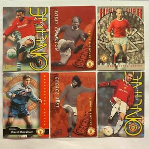 Futera Manchester United 1997 Trading Cards feat Beckham, Best, Law & Others