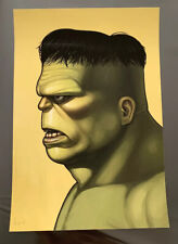 The Incredible Hulk Mondo Mike Mitchell Portrait Print Marvel Comics Signed