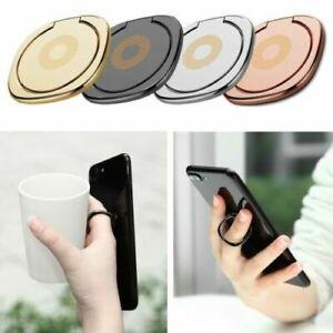 Selfie Finger Ring Up Stand Grip Mobile Phone Hand Holder Metal UK