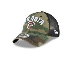 Atlanta Falcons New Era Rugged Stack Camo Trucker 9Twenty Adjustable hat