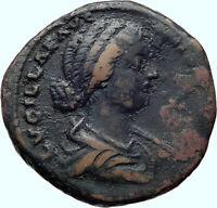 LUCILLA Authentic Ancient 164AD Rome SESTERTIUS Genuine Roman Coin VESTA i42127