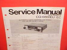 PANASONIC CASSETTE TAPE/AM/FM/MPX RADIO FACTORY SERVICE MANUAL CQ-6800EU 6800EC