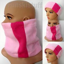 Polar Fleece Pale Pink Neckwarmer Snood Scarf Ski Neck Wear Girls Ladies Cowl