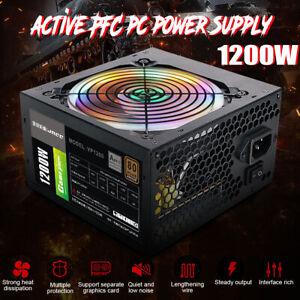 1200W Active ATX 12V 2.31 PFC Desktop Gaming PC Netzteil 8PIN+2x6PIN Silent Fan