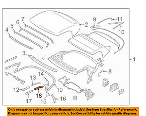 NISSAN OEM 10-16 370Z Convertible/soft Top-Weatherstrip Seal Right 971721ET0A