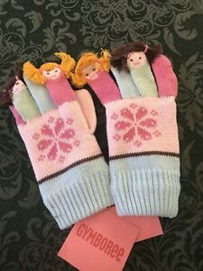 Nwt Gymboree Winter Ballerina Gloves 5 7 6 Dolls hair Fingers mittens holidays