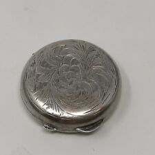 Vintage Sterling Silver Pill Snuff Box