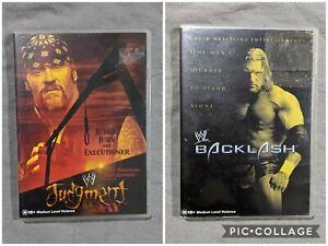 WWE Judgment Day 2002 DVD Plus BONUS Backlash 2002 DVD, Judgement