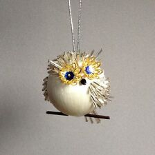 Kit OWL BE HOME FOR CHRISTMAS Christmas Ornament Satin Silk Ball Beads