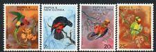 PAPUA NEW GUINEA, 1967 PARROTS 4 MNH