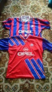 Bayern Munich Football Shirt Bundle Joblot (x2) 1993 1995 Adidas Opel XL Ziege