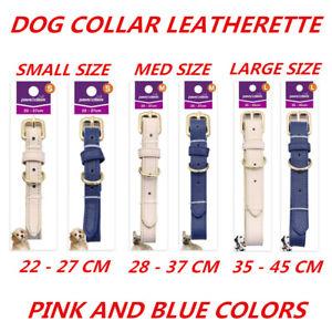 3 Size Dog Cat Leatherette Collar Pet Puppy Kitten Adjustable Harness Neck Strap