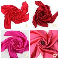 Red Burgundy Bright Hot Pink Watermelon Pink Silk Satin Charmeus Fabric / Meter