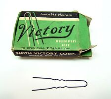 VINTAGE SMITH VICTORY HAIRPIN KIT FULL BOX HAIR PIN WWII ERA EXCELLENT CONDITION