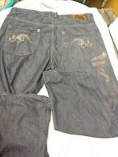 Ecko unltd Mens Blue Jean Pants Size 40 bedazzled beaded
