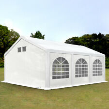 4x6m Garden Gazebo Waterproof Marquee 300g PE with GROUNDBAR Canopy Party Tent