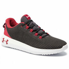 Under Armour UA Ripple Black / Red Mesh Lightweight Shoes Trainers UK 7 - 12