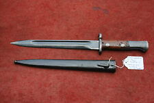 YUGOSLAVIA M1924 MAUSER BAYONET, SHORT BLADE, #55854 & STEEL SCABBARD #55854