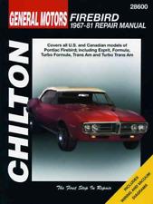Pontiac Firebird Trans Am Esprit Forumula 1967-1981 Workshop Manual Repair