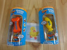 Zhu Happy's HAPPY TREAT Set of 2 Yellow Fish BEG Orange Bone POUNCE Interactive