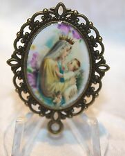 Custom Bronze Rosary Center Part/Color/Rosary Making/Queen of Heaven/Lavender