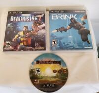 LOT OF 3 Playstation 3 PS3 GAMES - Brink , Dead Rising 2 , Bullet Storm Loose