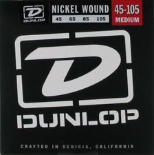 DUNLOP DBN45105 NICKEL WOUND BASS STRINGS, MEDIUM GAUGE 4's  45-105