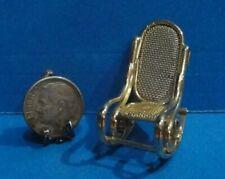 Dollhouse 1/4 scale metal rocking chair 1:48
