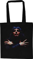Freddie Mercury Nero Cotone Borsa Shopping Tote FREDDY QUEEN GLAM POP QUEEN