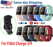 For OEM Fitbit Charge 3 / 4 Replacement Wrist Band Silicone Bracelet Watch Rate
