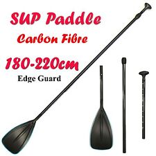 Carbon Fibre Telescopic 3 Piece Kayak SUP Paddle Board Edge Guard 180-220cm