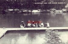 Waterfront Area, Camp Barree, Barree, Pa. women in four canoes