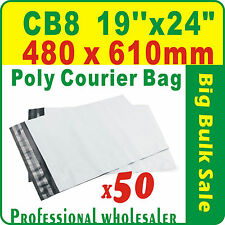 "50 x CB8 480X610mm(19''X24"") Courier Bag Poly Mailer Satchel Free Postage"