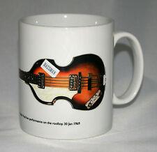 Guitar Mug. Paul McCartney's 1963 Hofner 500/1 & Bassman Sticker illustration.