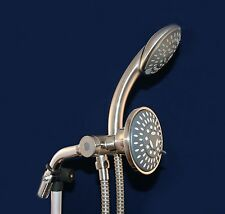 1 New Brushed Nickel Handheld Shower Head With 60 Inch Long Hose