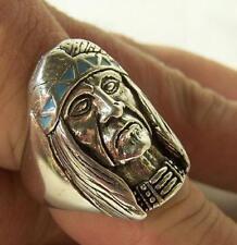 WARRIOR BRAVE W HEADBAND colored biker ring gift BR88R jewlery silver style new