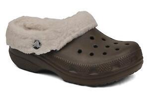 Crocs Chocolate Mammoth Winter Backless Crocs Chocolate/Oatmeal Toddler Size 6/7