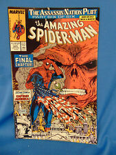 Amazing spiderman #325 comic book 1989 Silver sable Captain America superhero