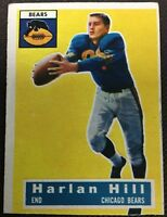 1956 Topps Football #59 Harlan Hill - Poor/Trimmed - Didbutbd