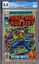 Power Man and Iron Fist #52 CGC 8.0 White Nightshade app Claremont