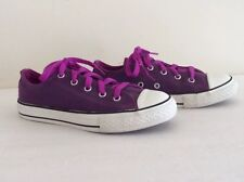 e59793b17b5d64 Converse All Star Youth Unisex Low Top Plump Sneakers Shoes Size 2