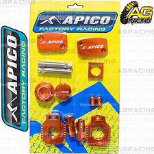 Apico Bling Pack Orange Blocks Caps Plugs Clamp Covers For KTM EXC 450 2006-2010