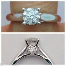 2.65ct Off White Moissanite Round Solitaire with Accents Ring 925 Silver Ring 06