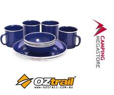 OZtrail Enamel 4 Person Camping Dinner Set Dinnerware