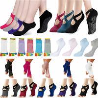 Socks Non Slip Yoga Skid Pilates Grips Ballet Sock Fitness Exercise Gym Ladies