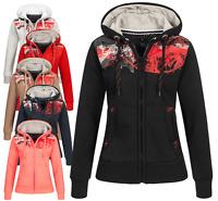 Geographical Norway Damen Sweat Jacke Hoodie Kapuzen Pullover Übergangsjacke