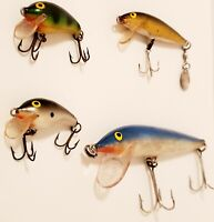 Lot Of 4 Rapala Lures-Countdown, Fat Rap And Original Floating