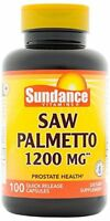 2 Pack Sundance Vitamins Saw Palmetto 1200mg Tablets 100 Count Each