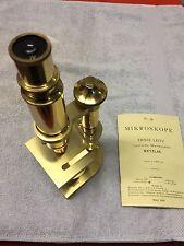 Leitz Messingmikroskop  Nachbau mit  Expertise Emo Optik